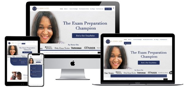 Website for an educational consultant