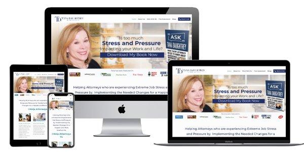 Wordpress website design for life coach for attorneys
