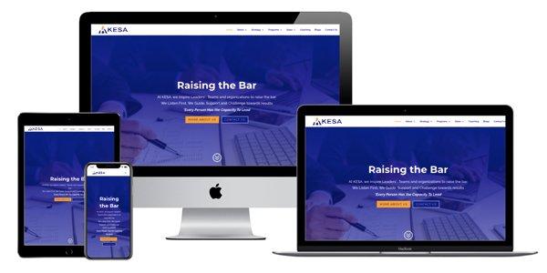 website design for a management consultant